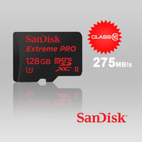 Sandisk Extreme Pro Micro Sdxc Uhs-Ii 128Gb Class 10 Up To 275Mb/S,With Microsd To Usb 3.0 Adaptor  Sdsqxpj-128G