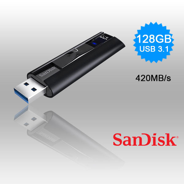 Sandisk Cz880 Extreme Pro Usb 3.1 420/380Mb/S Solid State Flash Drive 128Gb Sdcz880-128G