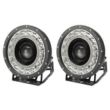 Pair 9 Inch Cree Led Driving Lights Spot Round Black Spotlights 4X4 Suv Offroad