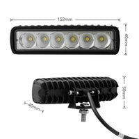 4X 6Inch 30W Led Work Light Bar Flood Beam Fog Reverse Lamp Driving Offroad
