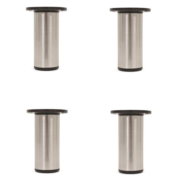 4-Pack 4.8'' Round Adjustable Height Metal Leg Furniture