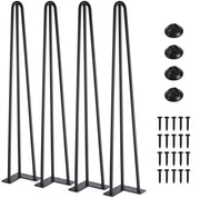 28 Inch Heavy Duty Hairpin Furniture Legs (4 Pack)