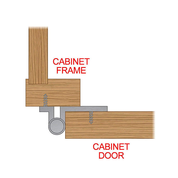 Self Closing Overlay Flush Chrome Cabinet Hinges