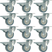 "12 pack 2"" Swivel Total Lock Brake Polyurethane Plate Caster PU"