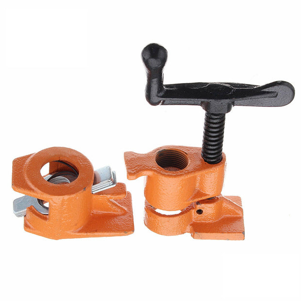 "4 Pack of 3/4"" Wood Gluing Pipe Clamp Set Heavy Duty PRO"