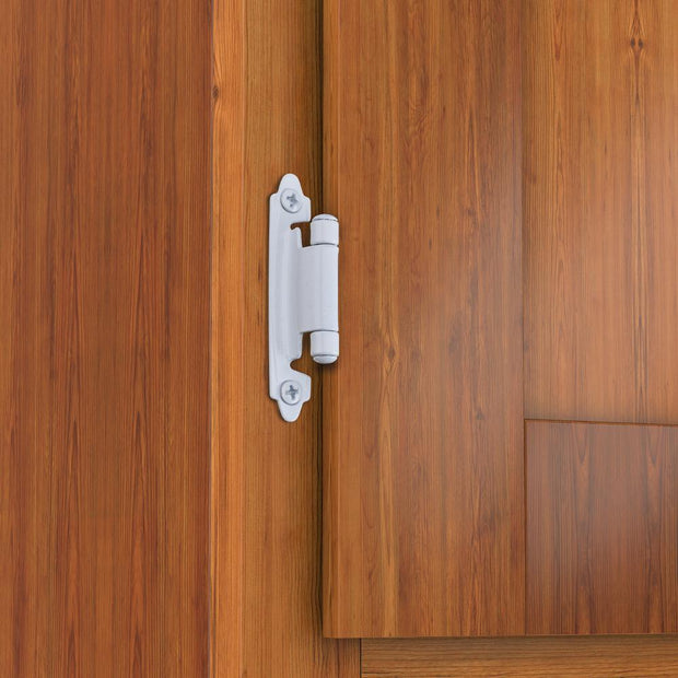 Self Closing Overlay Flush White Cabinet Hinges
