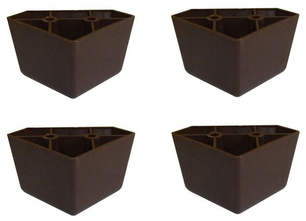 4-Pack Universal Dark Brown Plastic Furniture Triangle Legs