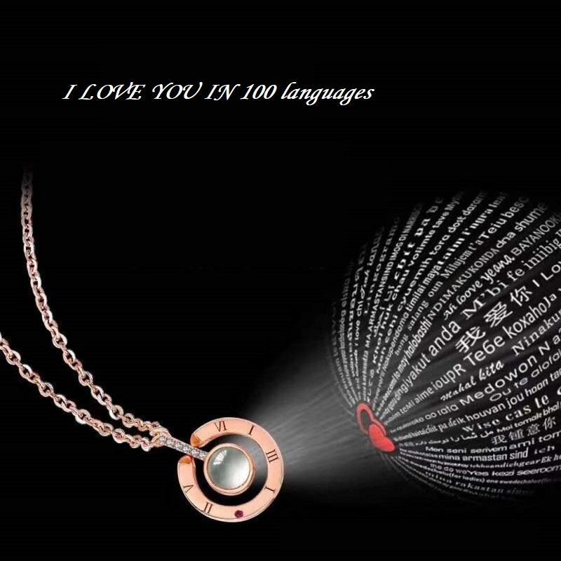 100 I Love You Necklace Gadgitstore
