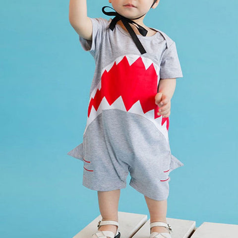 Shark Tooth design Baby Romper