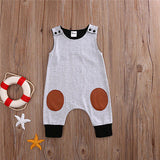 Sleeveless Patchwork Romper for Kids