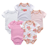 Set of 5PCS Unisex Top Quality Baby Rompers
