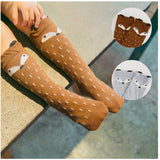 Soft Cotton Animal Printed Knee High Unisex Socks For 0-3 Years Old
