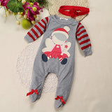 Christmas Baby Rompers Set With Hat Included