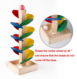 Wooden Tree Marble Ball Run Great Baby Kids Children Intelligence Wooden Educational Toys