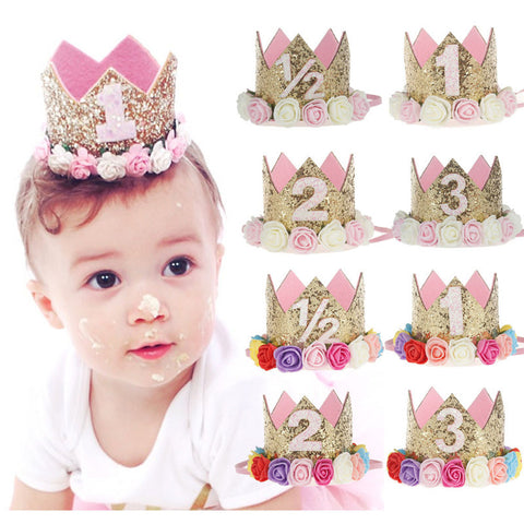 Baby Girl Birthday Party Crown