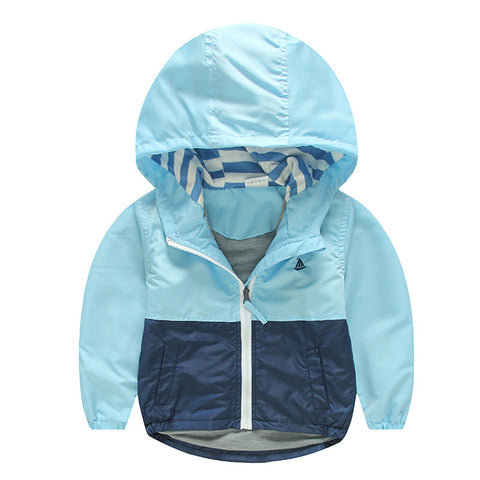 Hooded Windbreaker Jacket For Children