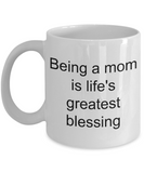 Hottest Gifts For Mom On Mothers Day - Being A Momma Wife Is Life's Greatest Blessing - Novelty Birthday Tea Coffee Tea Cup
