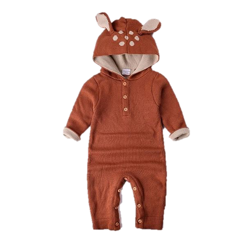 Knitted Luxury Baby Romper - Faun