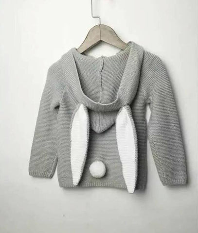 Rabbit Long Ear Hooded Sweaters Knitted