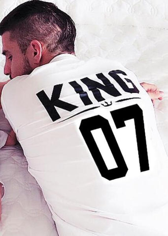 100% Cotton Matching King Queen Prince Princess Family Shirts