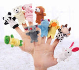 Animal Finger Puppets 10pcs 'Crown Tiger'