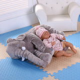 Baby Elephant Crib Foldable Pillow Toy