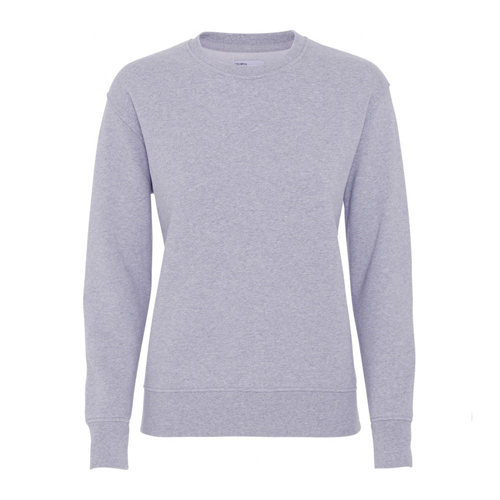 Women classic organic crew heather grey