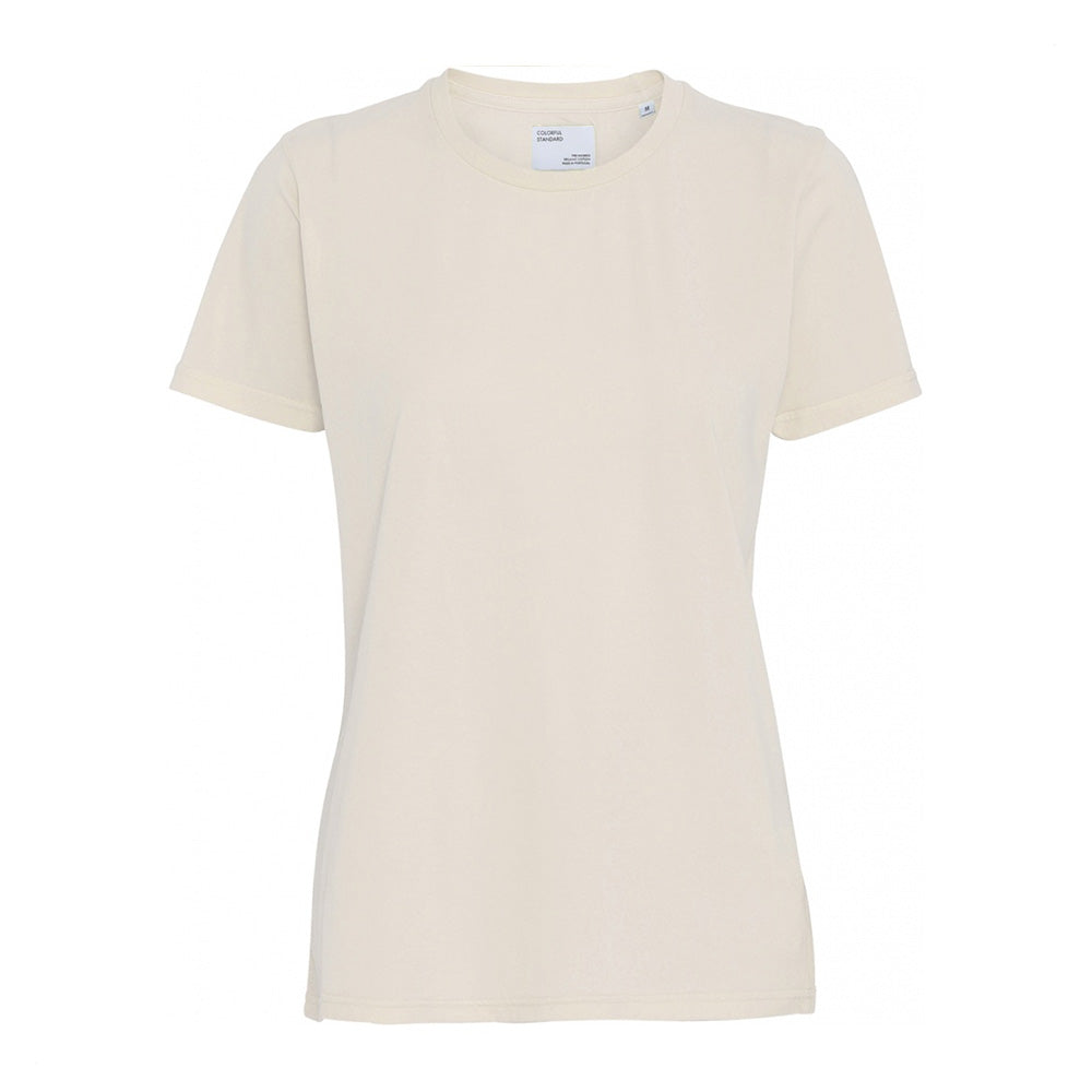Women light organic tee ivory white