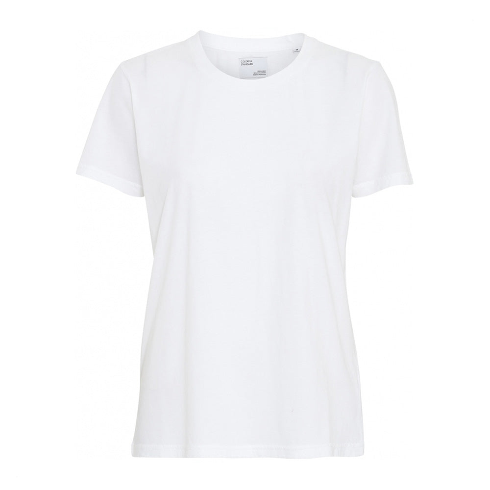 Light organic tee optical white