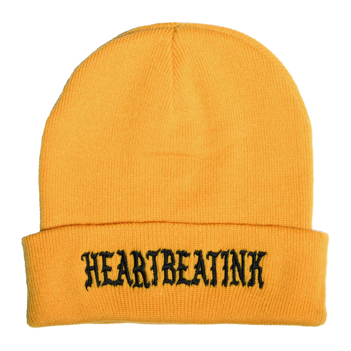 HeartbeatInk Amber Embroidered Beanie