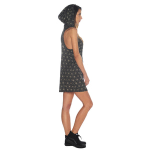 Geometric Hooded Tank Dress #3