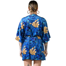Load image into Gallery viewer, Oriental Velvet Mini Wrap Dress #4