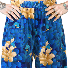 Load image into Gallery viewer, Oriental Velvet Wide Leg Pants #4