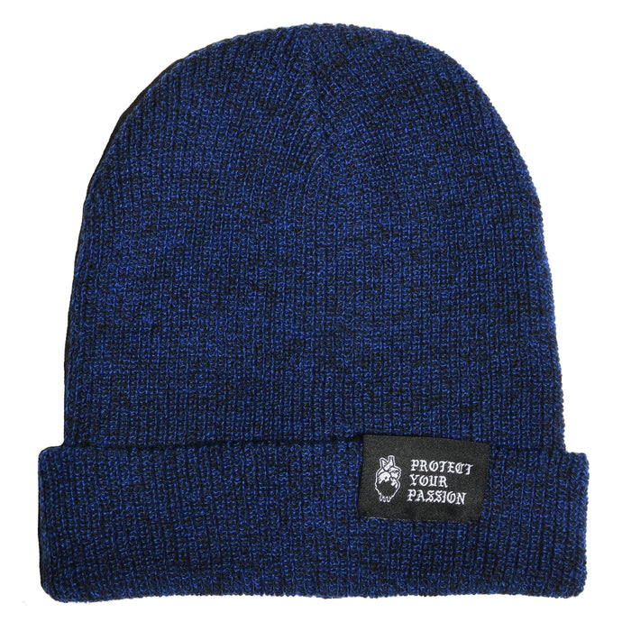 HeartbeatInk Protect Your Passion Blue Beanie