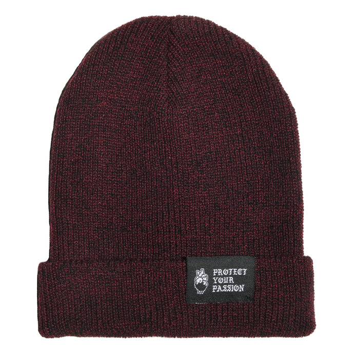 HeartbeatInk Protect Your Passion Burgundy Beanie