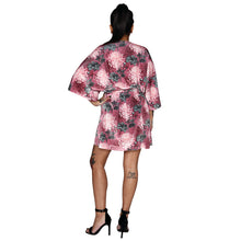 Load image into Gallery viewer, Oriental Velvet Mini Wrap Dress #3