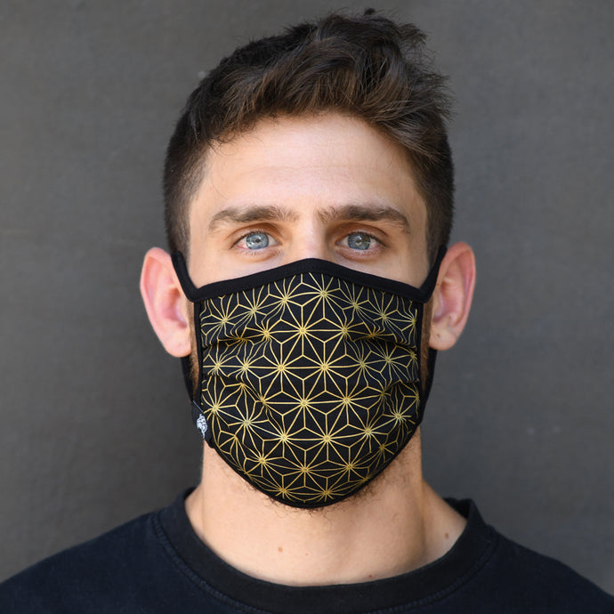 Sacred Geometry Asanoha Face Mask