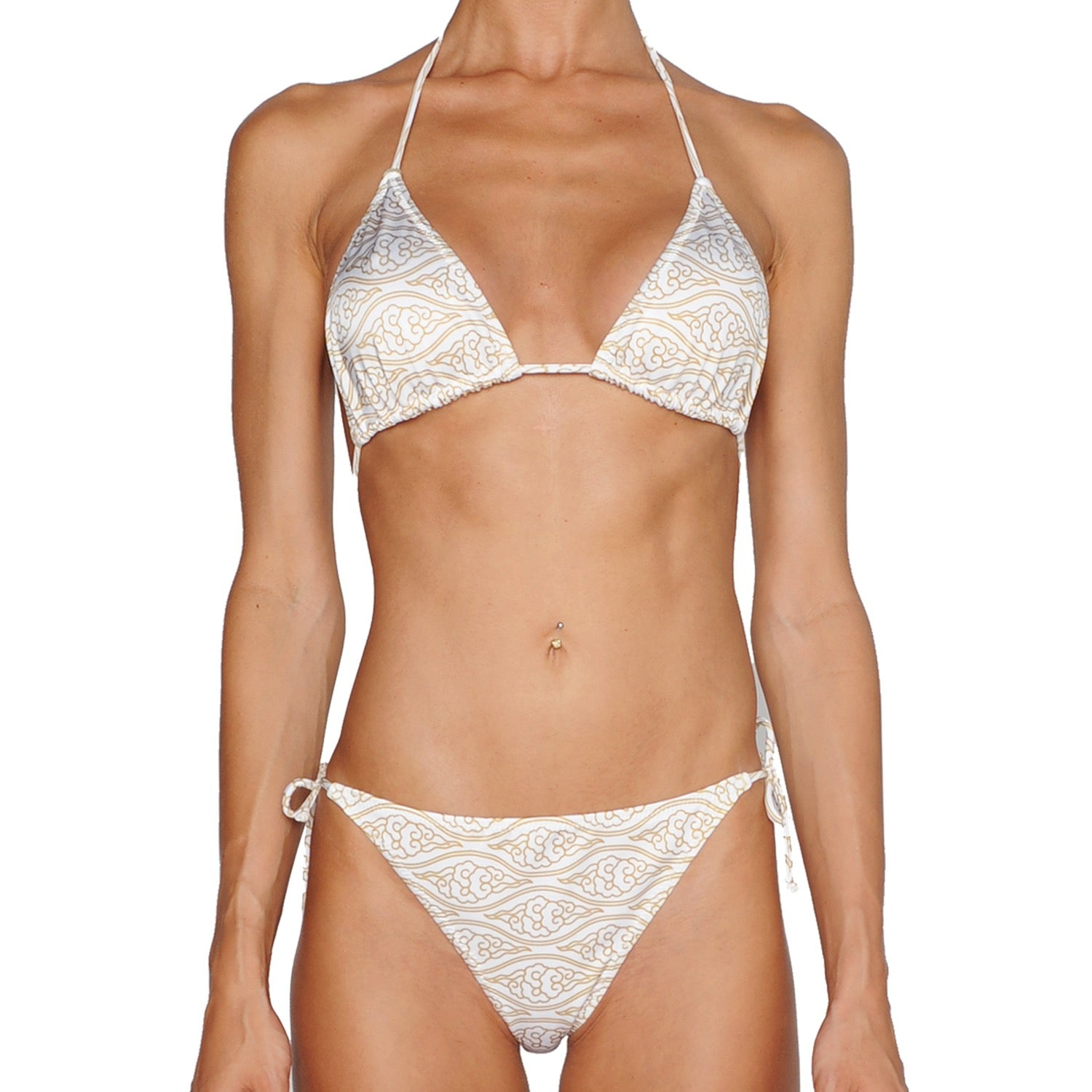 Cloud Gold Tie Side Bikini