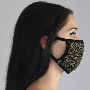 Sacred Geometry Cloud Face Mask