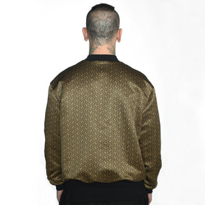 Geometric Satin Bomber Jacket #8