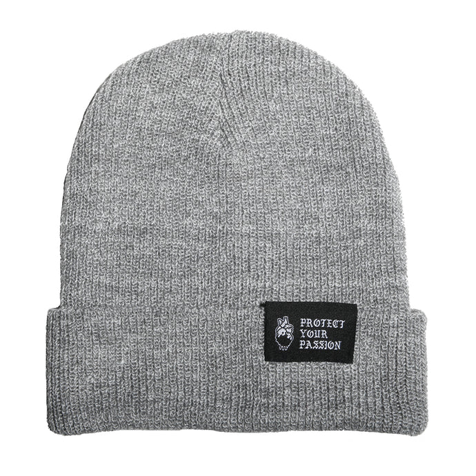 HeartbeatInk Protect Your Passion Grey Beanie