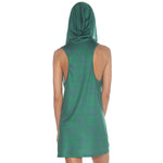 Geometric Hooded Tank Dress #4
