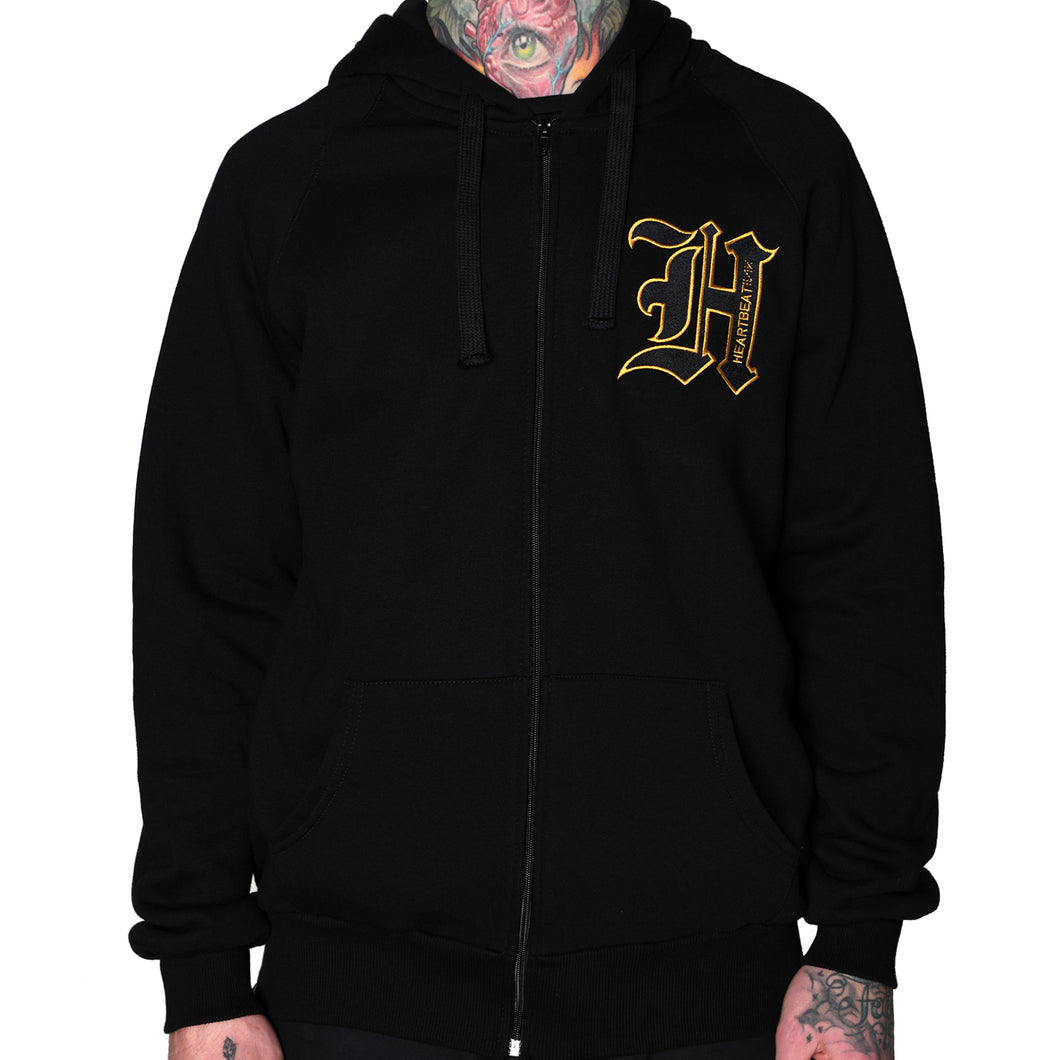 HeartbeatInk Monogram Zip-Up Hoodie