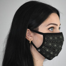 Load image into Gallery viewer, Khaki Asanoha Mask