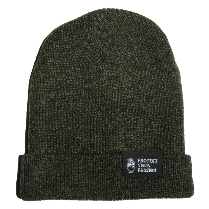 HeartbeatInk Protect Your Passion Khaki Beanie