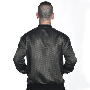 Geometric Satin Bomber Jacket #18