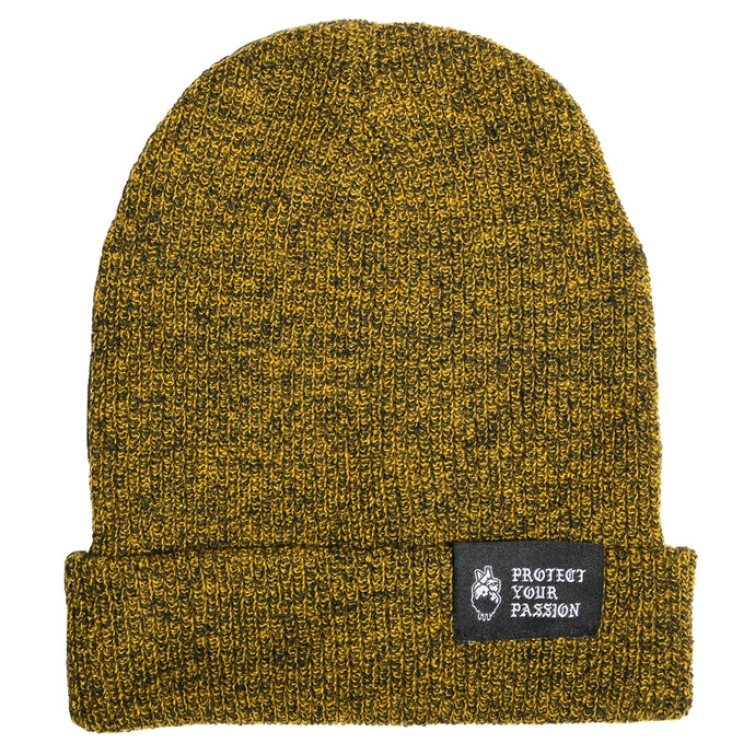 HeartbeatInk Protect Your Passion Mustard Beanie