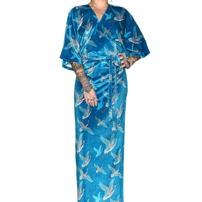 Japanese Velvet Maxi Wrap Dress #2