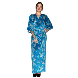 Japanese Velvet Maxi Wrap Dress #4