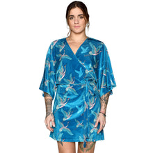 Load image into Gallery viewer, Japanese Velvet Mini Wrap Dress #2